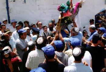 """ההילולה בחצר בית עבו, תשס""""ד 2004"""